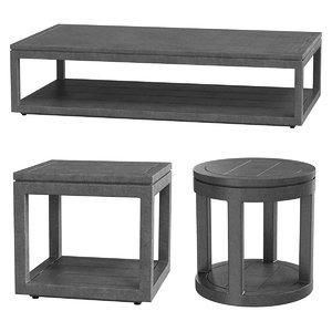 3D tables restoration hardware capri model