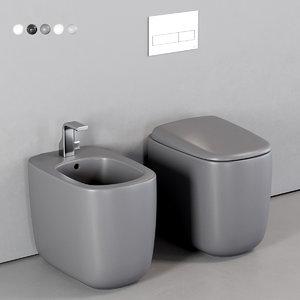 3D mono toilet bidet