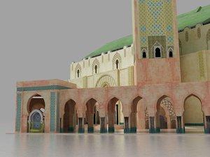 3D king hasan ii mosque model