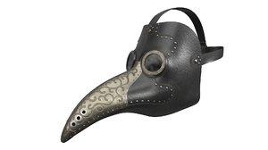 antique plague mask model