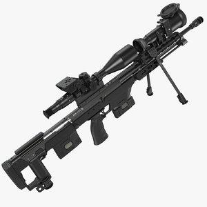 sniper rifle dsr-50 3D model