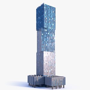 3D skyscraper building 08 model