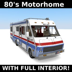 3D 80 motorhome model