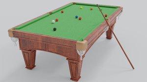 pool table snooker 3D model