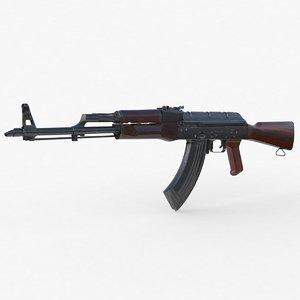 akm assault rifle 3D model