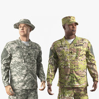 Rigged US Army Soldiers Collection for Cinema 4D