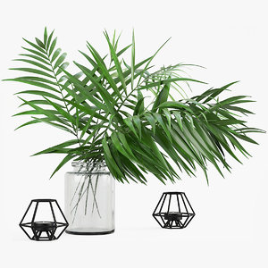 tropical leaves 3D