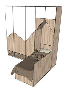 wardrobe bed model