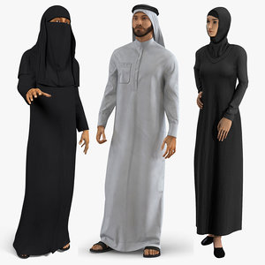 arab people 2 rigged 3D model