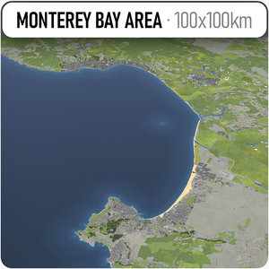 3D monterey bay area model