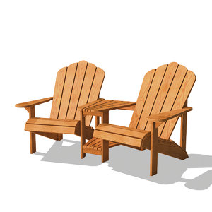 adirondack double chair model