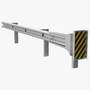 energy absorbing guard rail 3D model