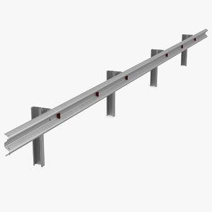 3D metal highway guardrail