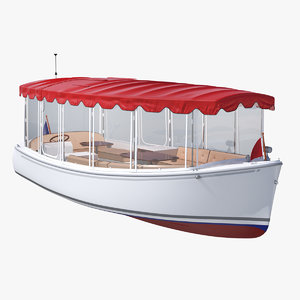 pleasure boat canvas enclosures 3D model