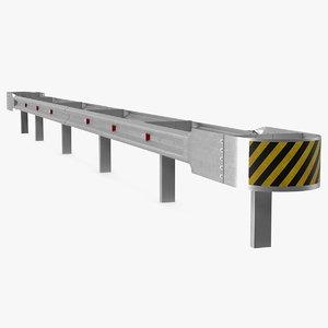 safety galvanized steel block 3D model