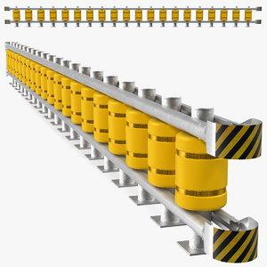 safety roller barrier 3D