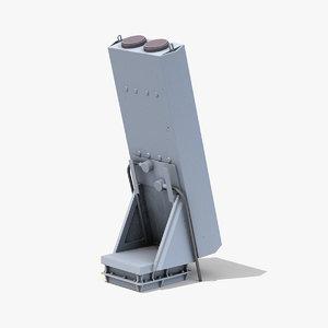 nulka missile 3D model