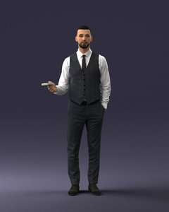 3D man people character model