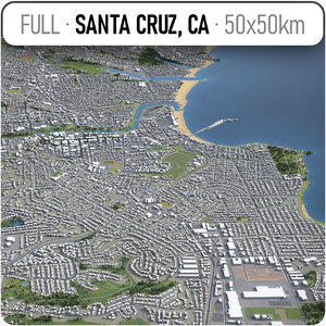 santa cruz surrounding - 3D