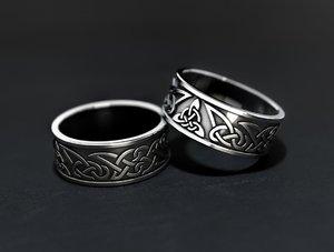 jewelry trefoil wedding rings 3D model