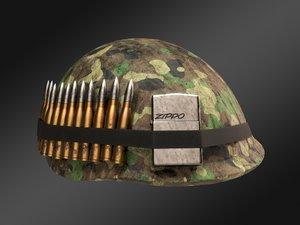 military helmet model