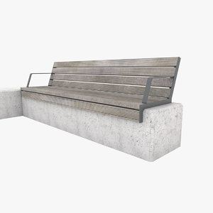 3D city bench set
