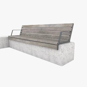3D city bench set