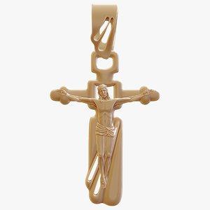 crucifix print 3d model