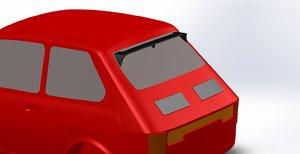 3D rear spoiler fiat 126