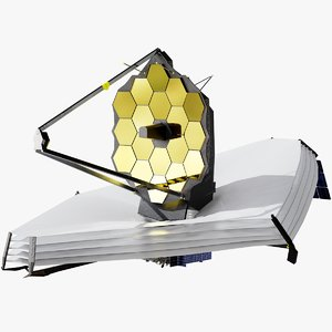 james webb space telescope 3D model