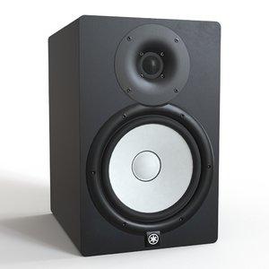 3D model yamaha hs8 studio monitor