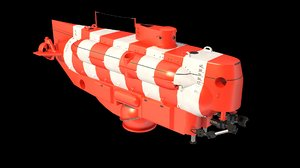 deep-submergence rescue vehicle submarines 3D model