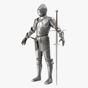 medieval knight plate armor 3D model