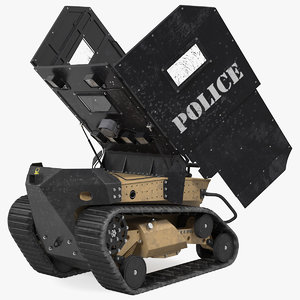 3D damaged rbs1 swat bot model
