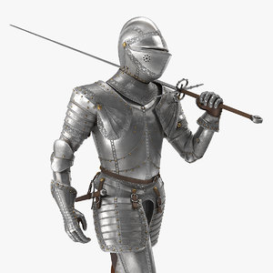 3D medieval knight plate armor