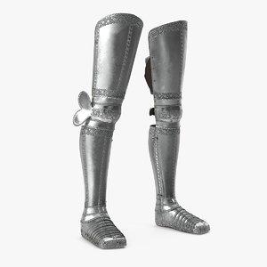 plate armor medieval leg model