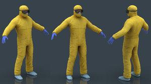 3D hazmat suit model