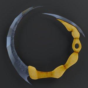 weapon chakram sword 3D model