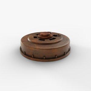 3D land anti tank model