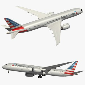 boeing 787-9 american airlines 3D