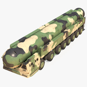 icbm launch vehicle generic 3D model