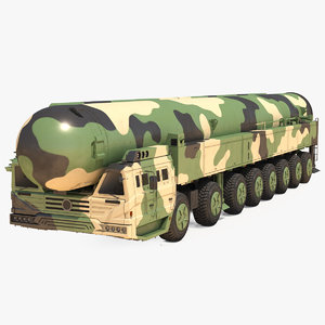 3D icbm launch vehicle generic