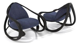 rocking armchair 3D