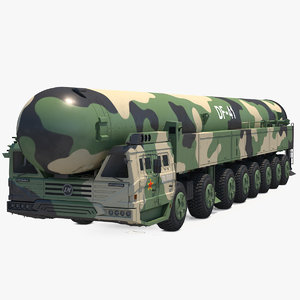 3D dongfeng-41 icbm launch vehicle model