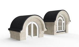 3D model classic radial windows