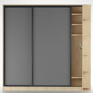 closet set 3D model