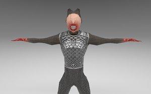 3D werewolf games model