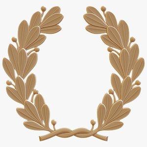 3D decorative laurel wreath printing model