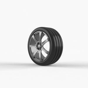 rim rubber tyre 3D