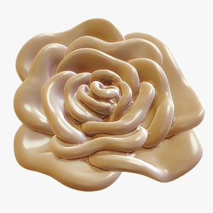 rose bloom print 3d 3ds
